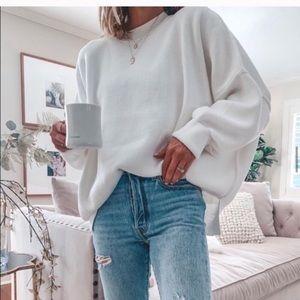 Free people easy street tunic sweater white medium